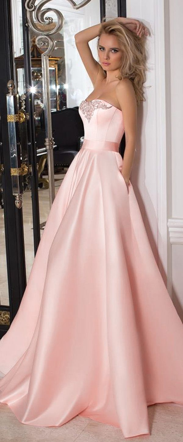 Fashion Satin Sweetheart Neckline A-line Prom Dresses With Belt ...