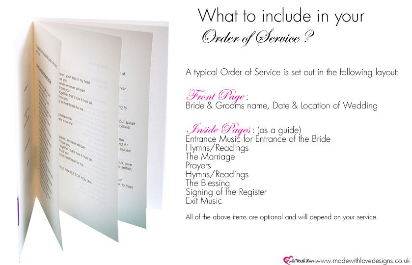 Order Of Service Wording What To Include Order Of Service Template Wedding Order Of Service Order Of Wedding Ceremony