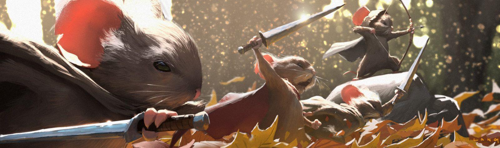 Mouse Guard: Legends of the Guard #4 panel, ryan  lang on ArtStation at https://www.artstation.com/artwork/mouse-guard-legends-of-the-guard-4-panel