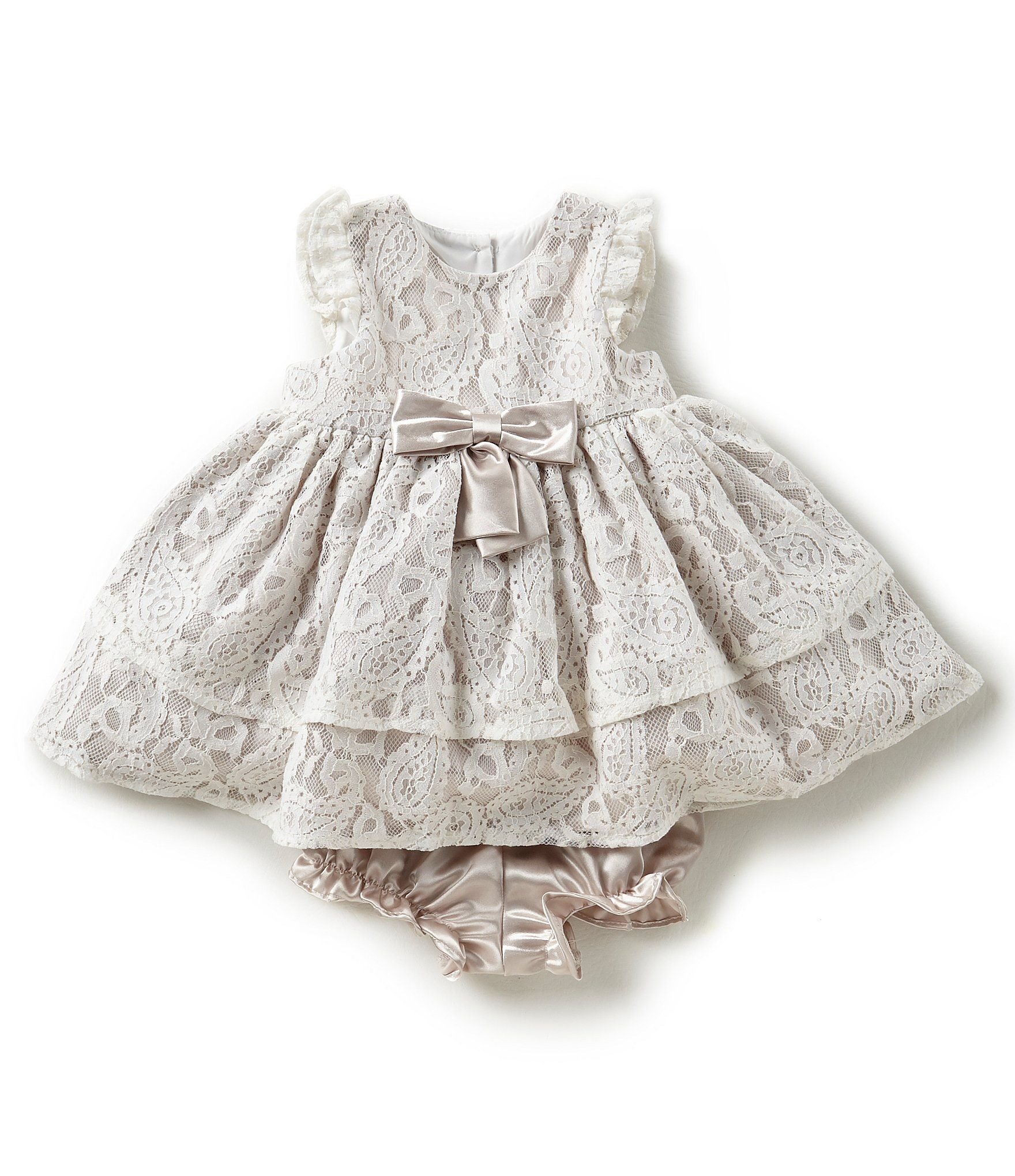 Laura Ashley London Baby Girls Newborn 24 Months Lace Fit And Flare
