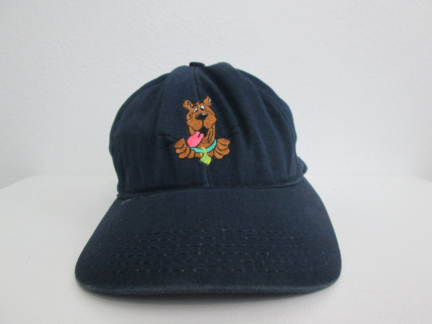 e3999bfab Scooby Doo Hat Cap Hanna Barbera Snapback Navy Blue Embroidered ...