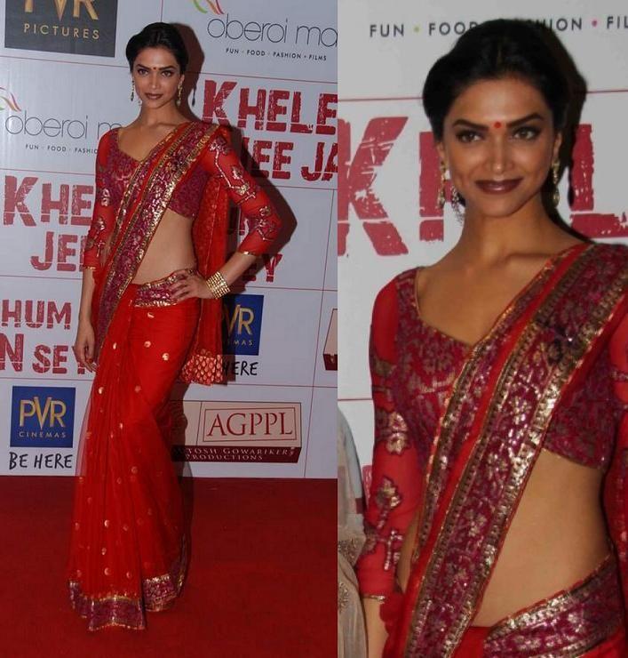 Khelein Hum Jee Jaan Sey Premiere Neeta Lulla Designer Sharee Indian Fashion Best Costume Design Neeta Lulla