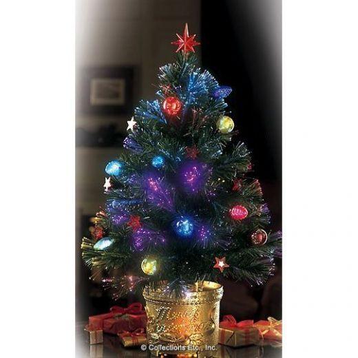 fiber optic christmas lights miniature tree - Mini Fiber Optic Christmas Tree