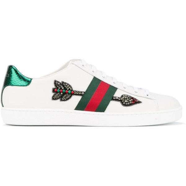 Gucci Ace embroidered low,top sneakers ($695) ❤ liked on