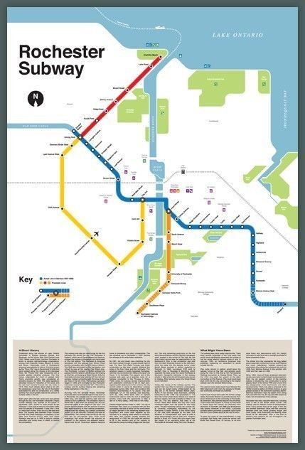 Nyc Subway Map 2017 Poster.Rochester Subway Map Things I Like Subway Map Rochester New