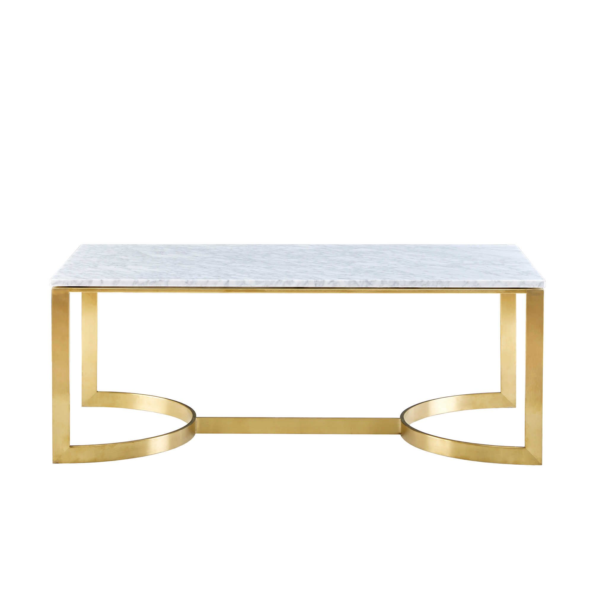 Madison Park Rockport Coffee Table In White Gold Marmor Wohnzimmer Bett Elektroniken