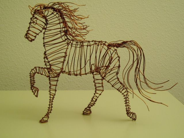 how to make a horse sculpture out of wire google search