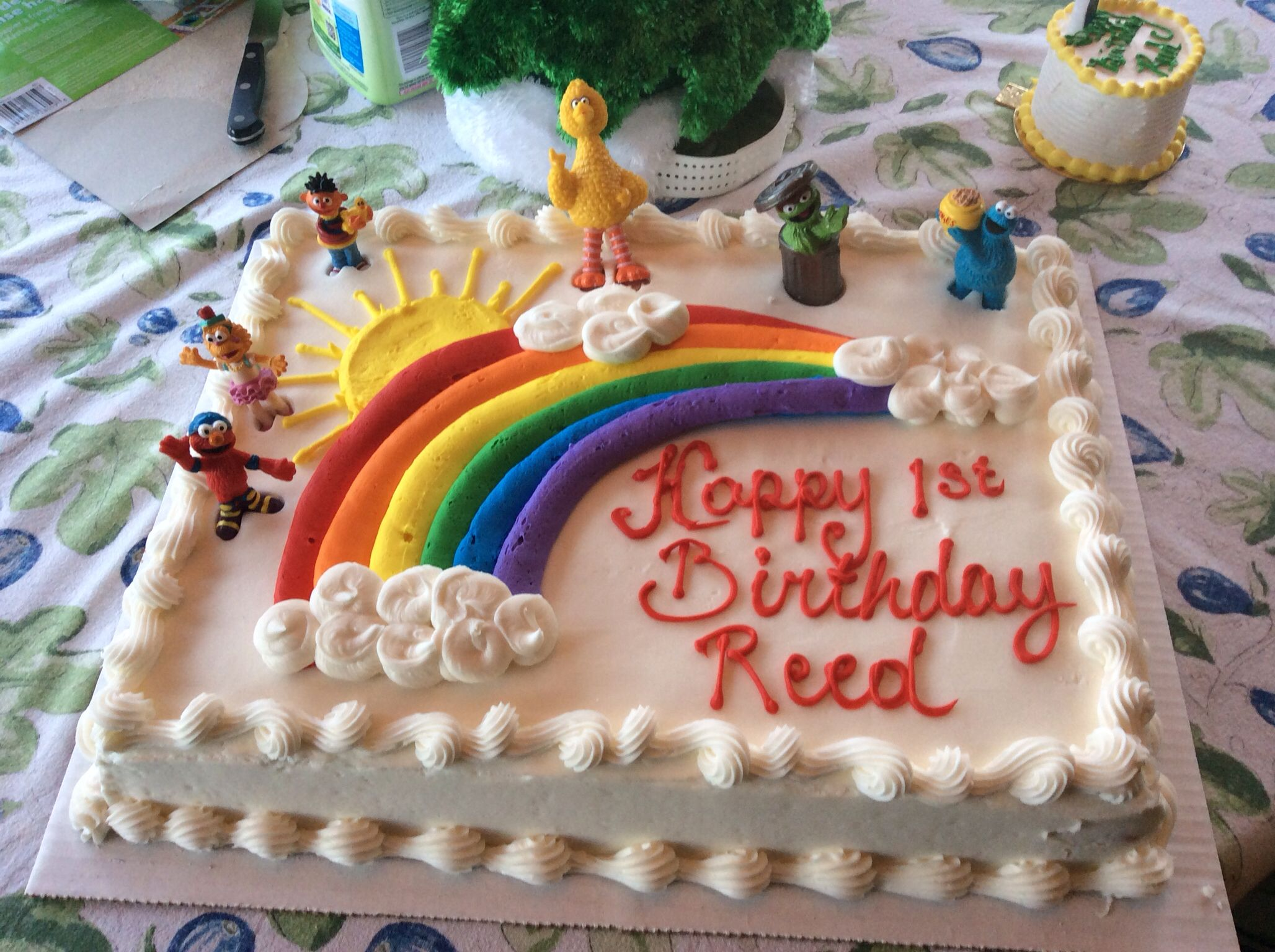 Pleasant Sesame Street Birthday Cake Costco With Images Sesame Street Personalised Birthday Cards Veneteletsinfo