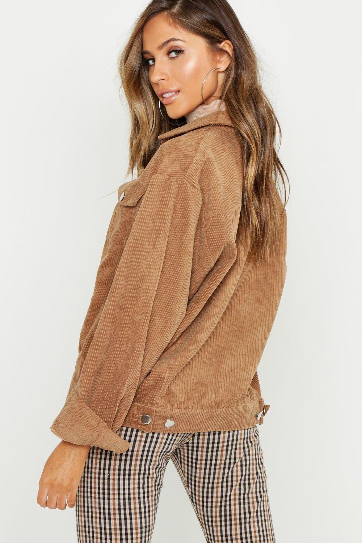 Oversized Cord Jacket | boohoo