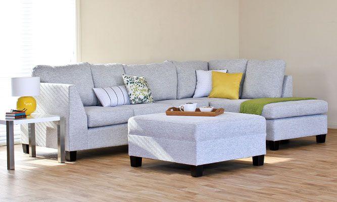 hermana 3 seater chaise ottoman nz made sofas furniture rh pinterest com