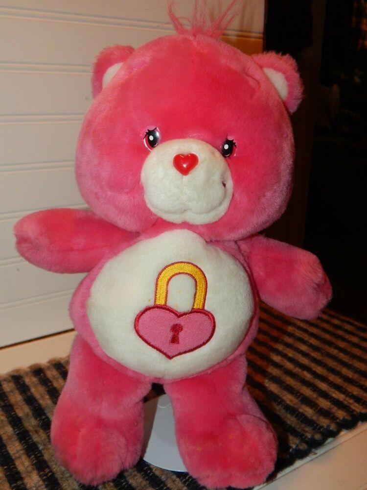 "Care Bears Secret Bear Large Plush Doll 13/"" Pink Bear Soft Stuffed Toy"