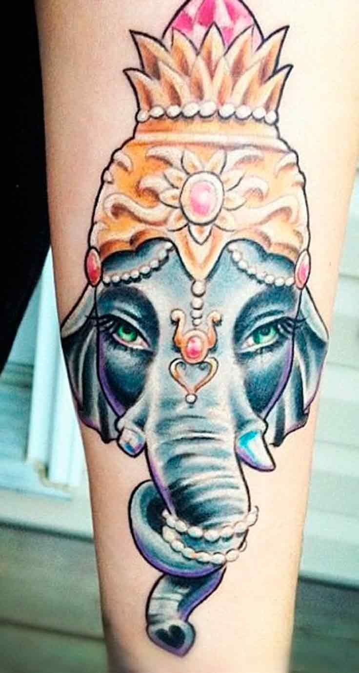 Also known as ganapati and vinayaka this asian oriental tattoo will