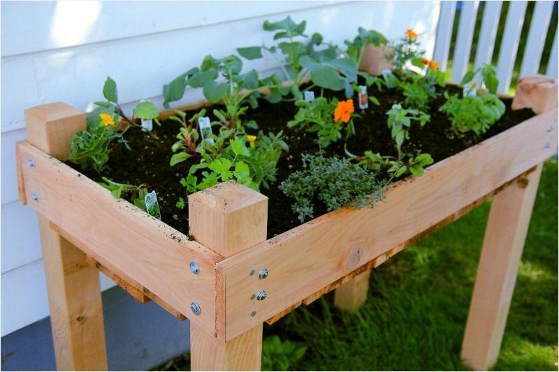 Cedar raised bed on legs gardening outdoorbed cedar