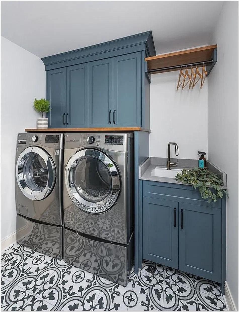 Photo of 63 Smart Farmhouse Laundry Room Storage Organization Ideas 18