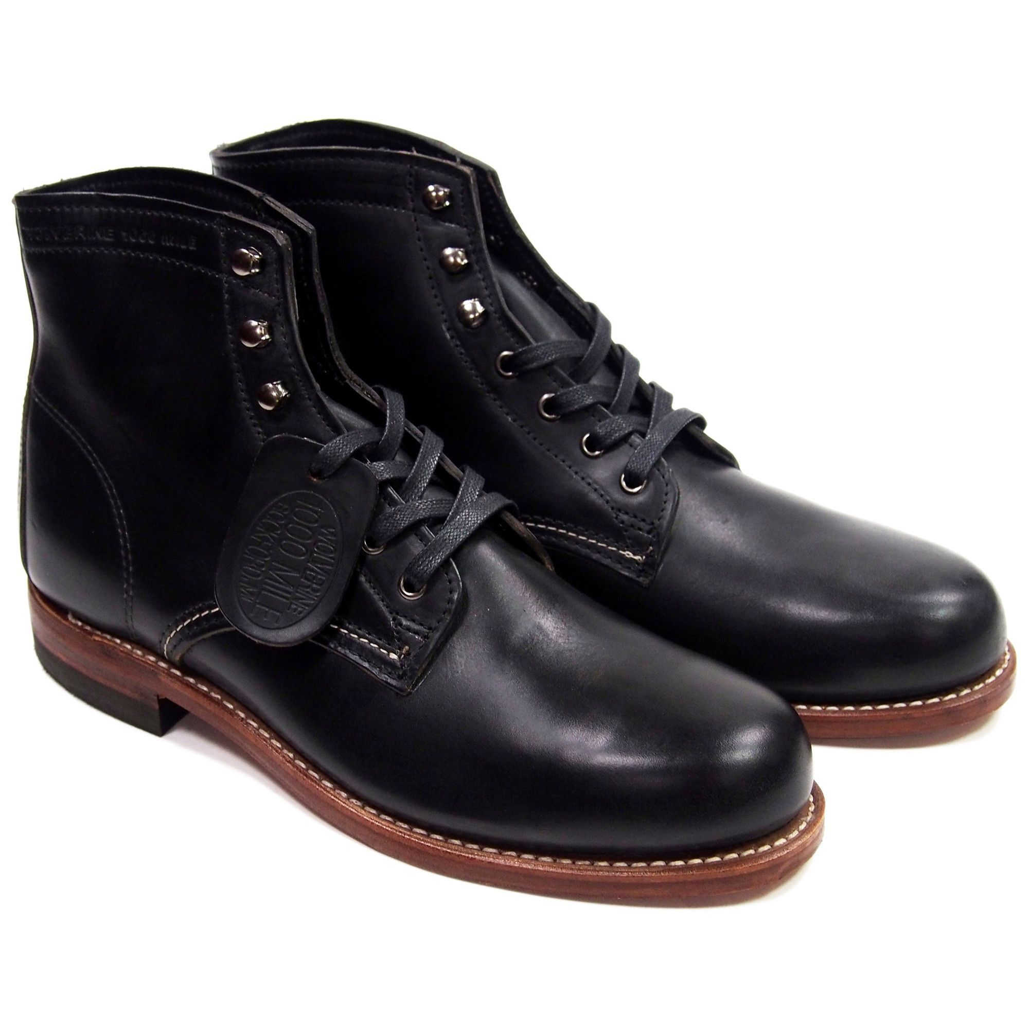 27e85726061 Wolverine 1000 Mile Boots - Black - Made in USA   dressy shoes ...