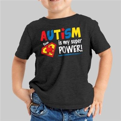 Our Autism is my Superpower T-Shirt is great way for your child to show their support for Autism Awareness.
