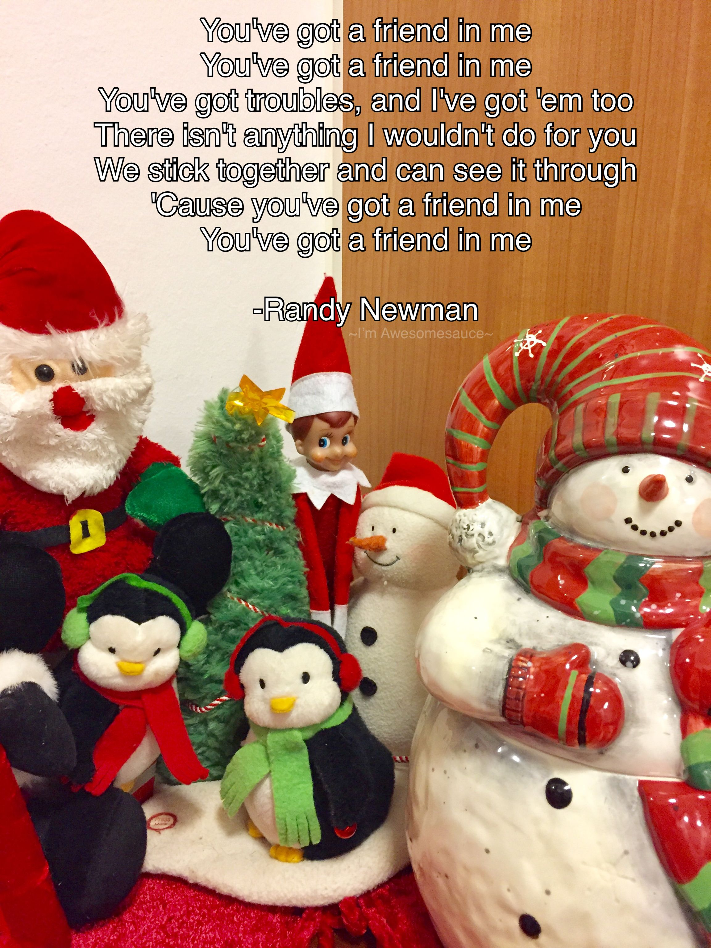 Pin by I'm Awesomesauce on Elf on the shelf song styles