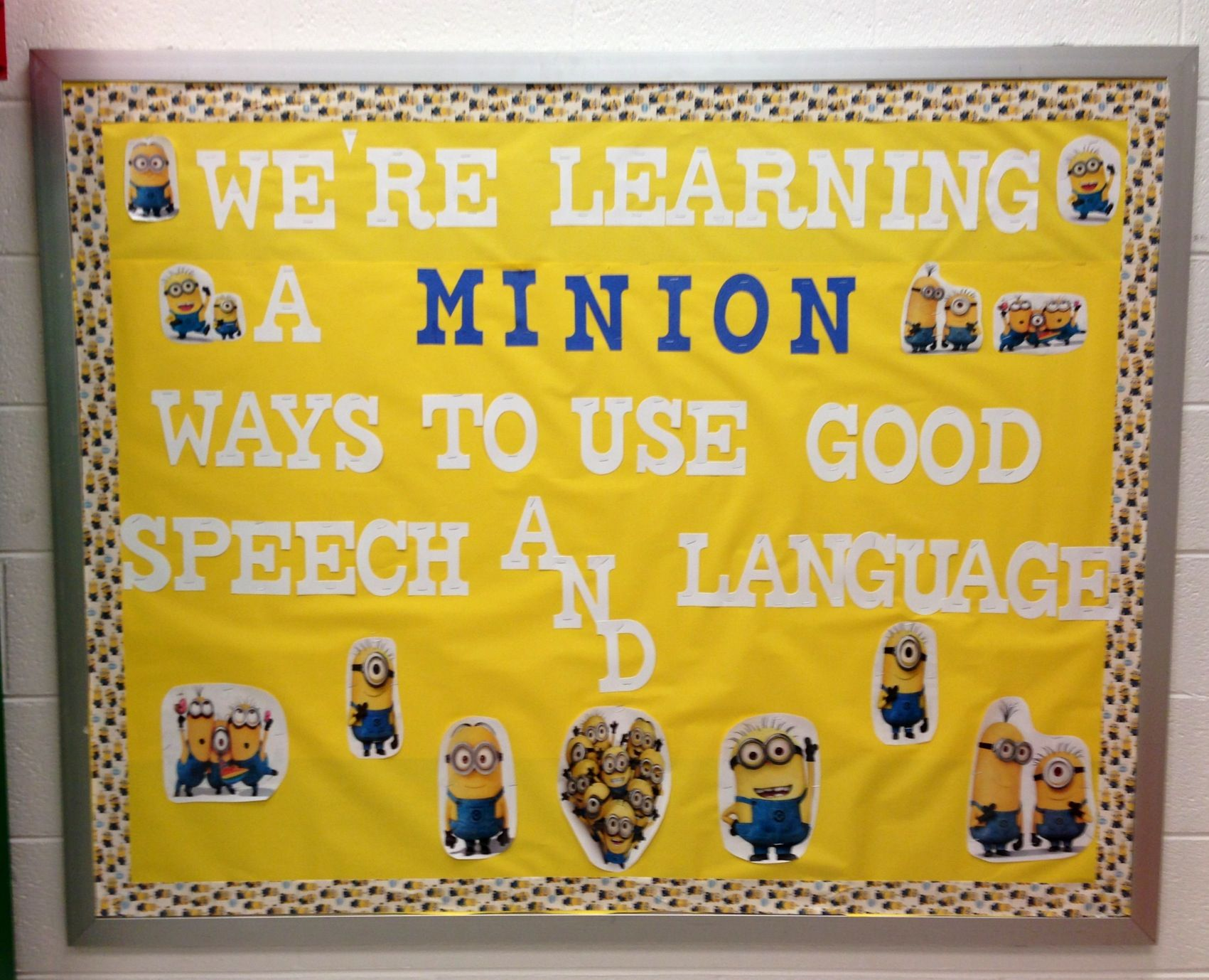 My Despicable Me Inspired Bulletin Board In My Office