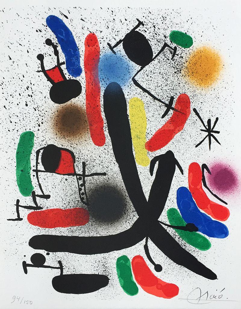 """Joan Miró Litógrafo I A"" (M.855) Joan Miro Abstract"