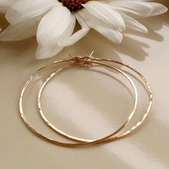 Medium Gold Hoop Earrings Want Very Thin Gold Hoops That Aren T