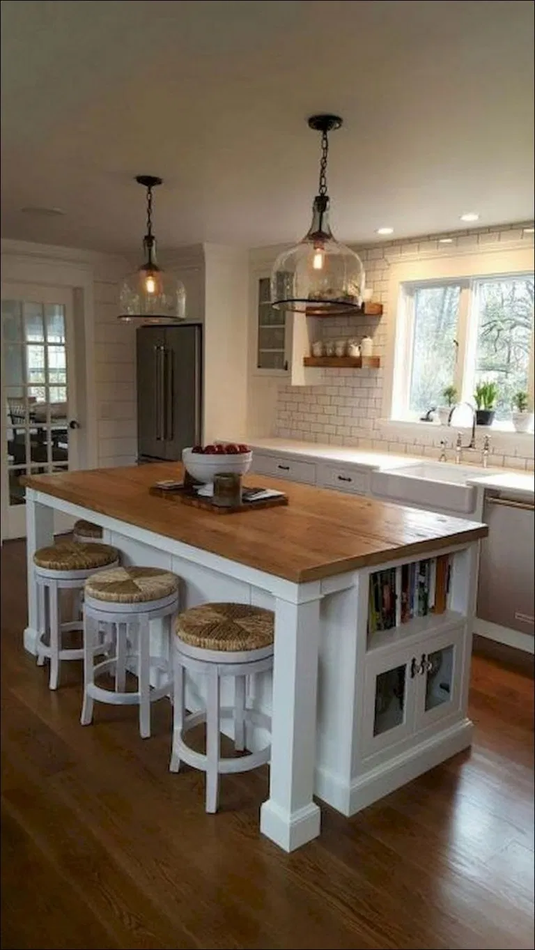 50 Beautiful Kitchen Island Ideas With Seating And Storage 28 Blogger Creative Kitchen K Scandinavian Kitchen Design Kitchen Design Small Kitchen Island