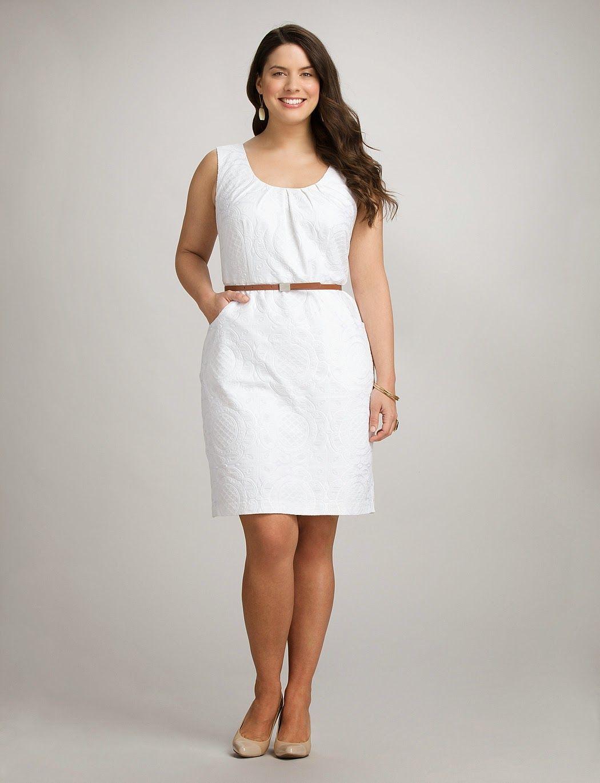 Vestido de coctel blanco para gorditas