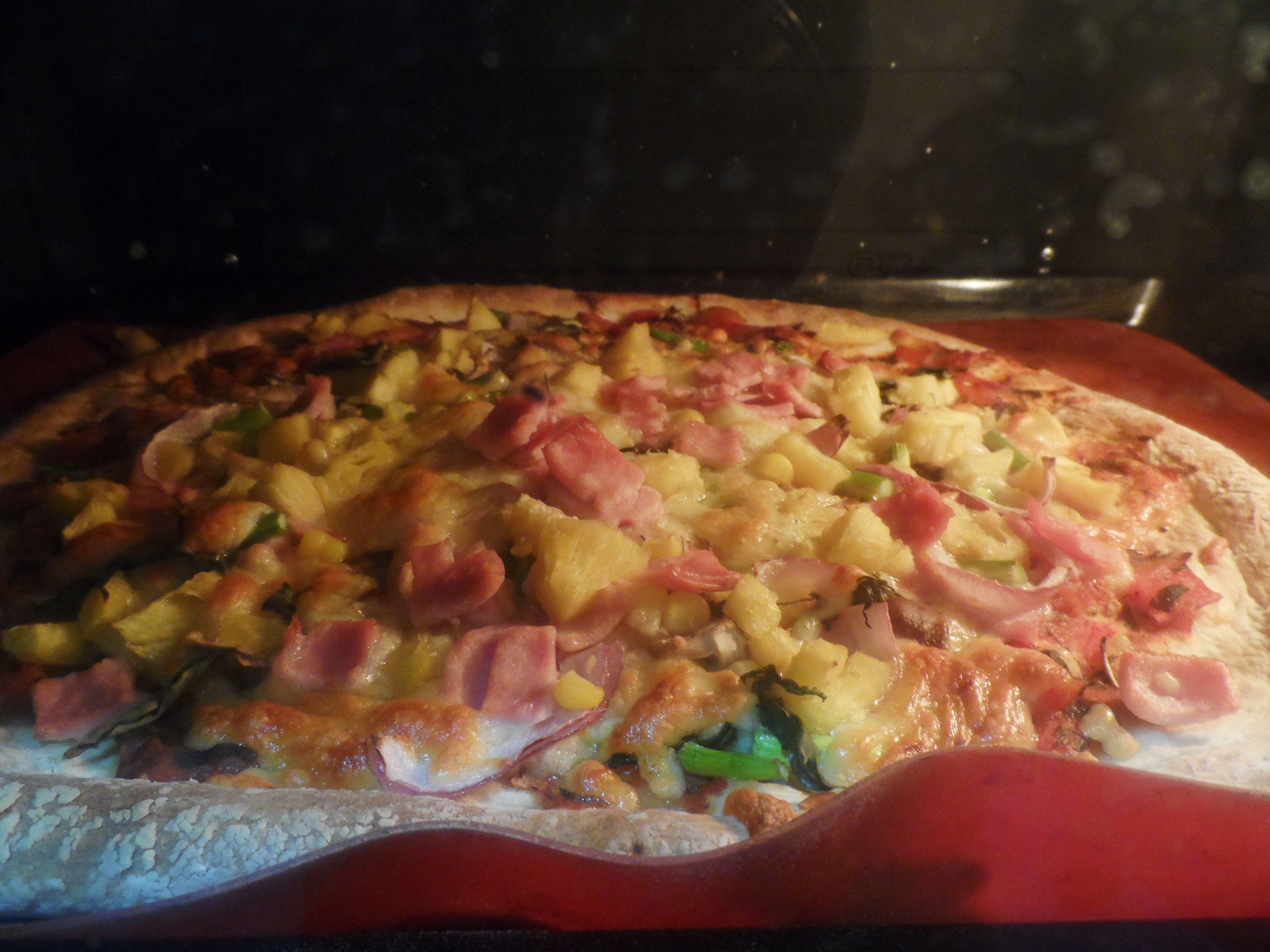 Hawaiian Pizza (My 1st pizza in the world!)