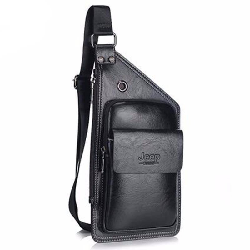 0507853cf JEEP Famous Brand Men Chest Bags Theftproof Magnetic Button Open Fashion  Leather Travel Crossbody Bag Man Messenger Bag 8005 - Best price in 10minus