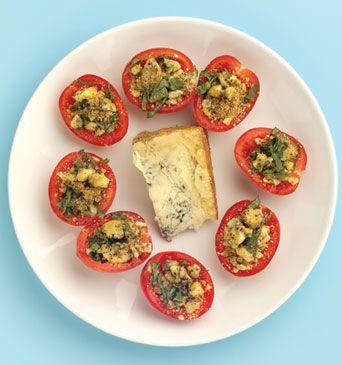 Cheesy roma tomatoes