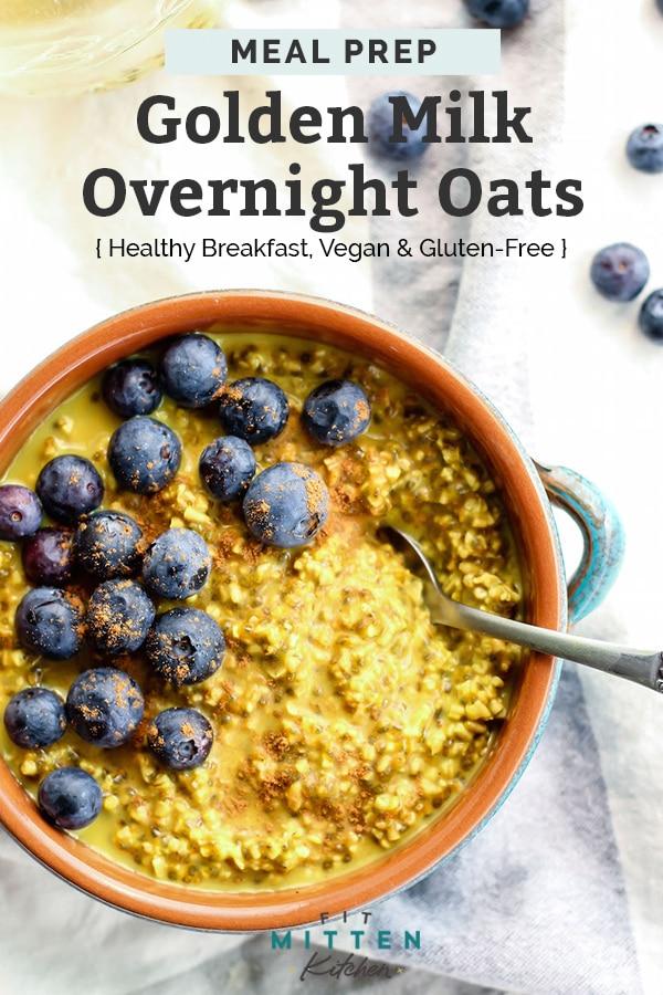 Easy Golden Milk Overnight Oats [ vegan ] Recipe