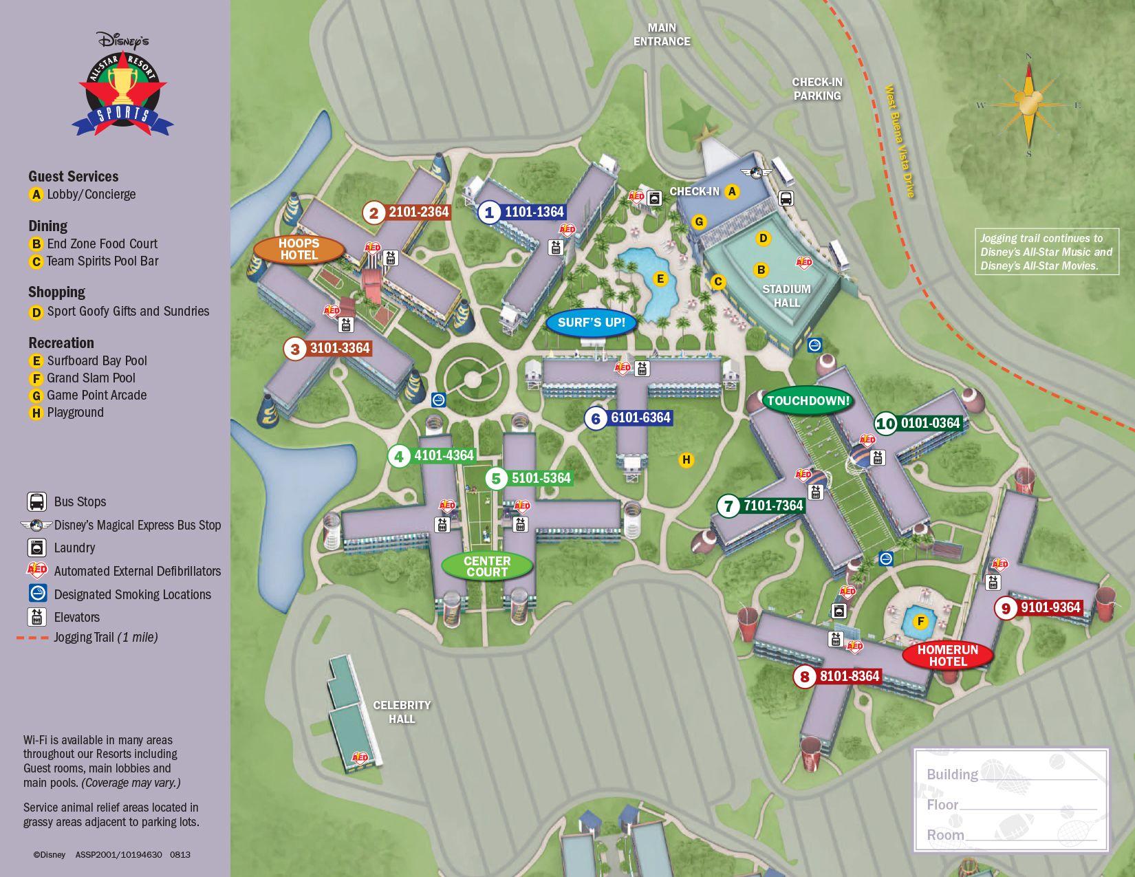 All star sports resort map walt disney resorts and disney resorts all star sports resort map kennythepirate disneyworld gumiabroncs Gallery