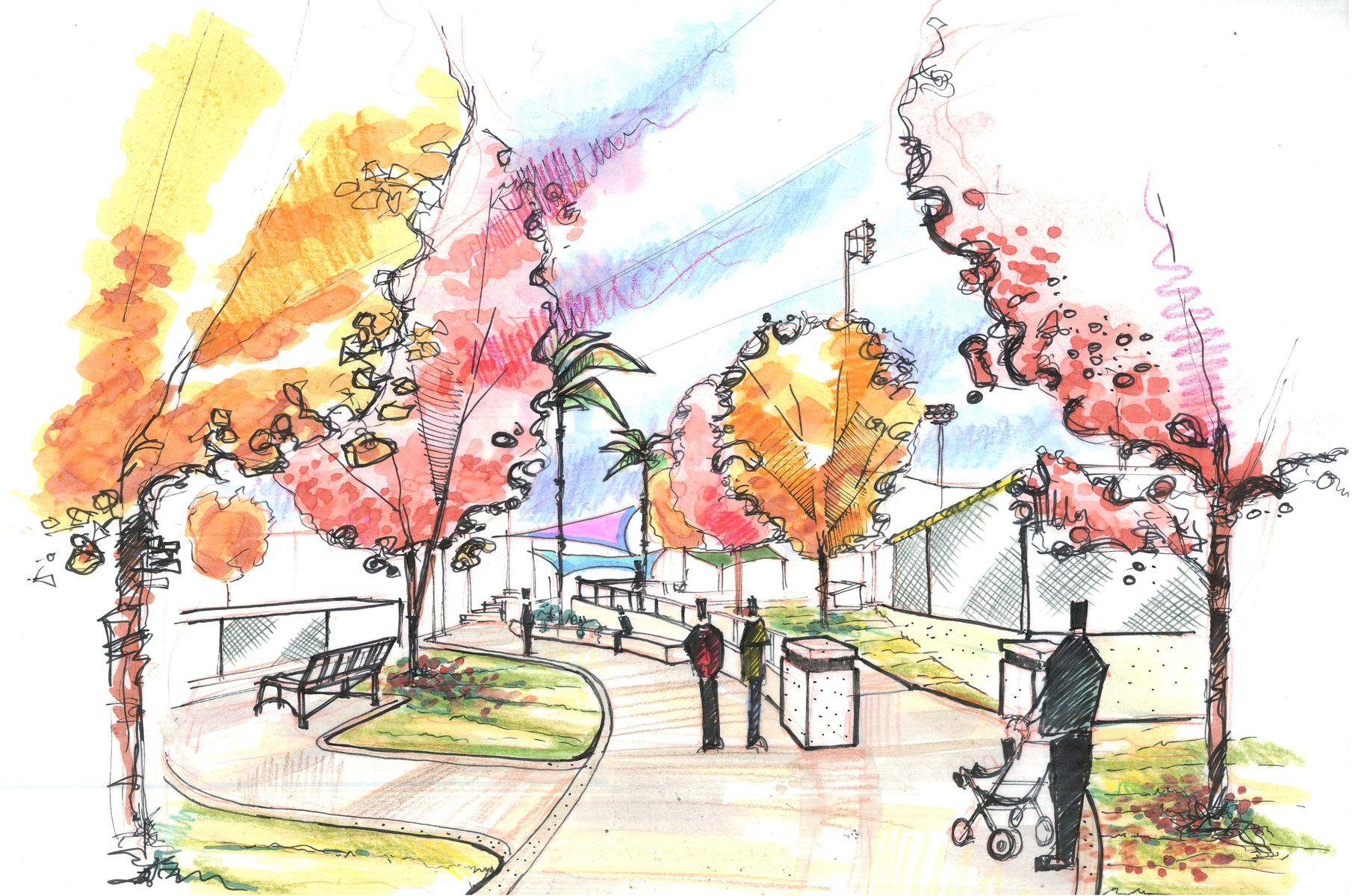 architecture sketch watercolor - google search | dab103