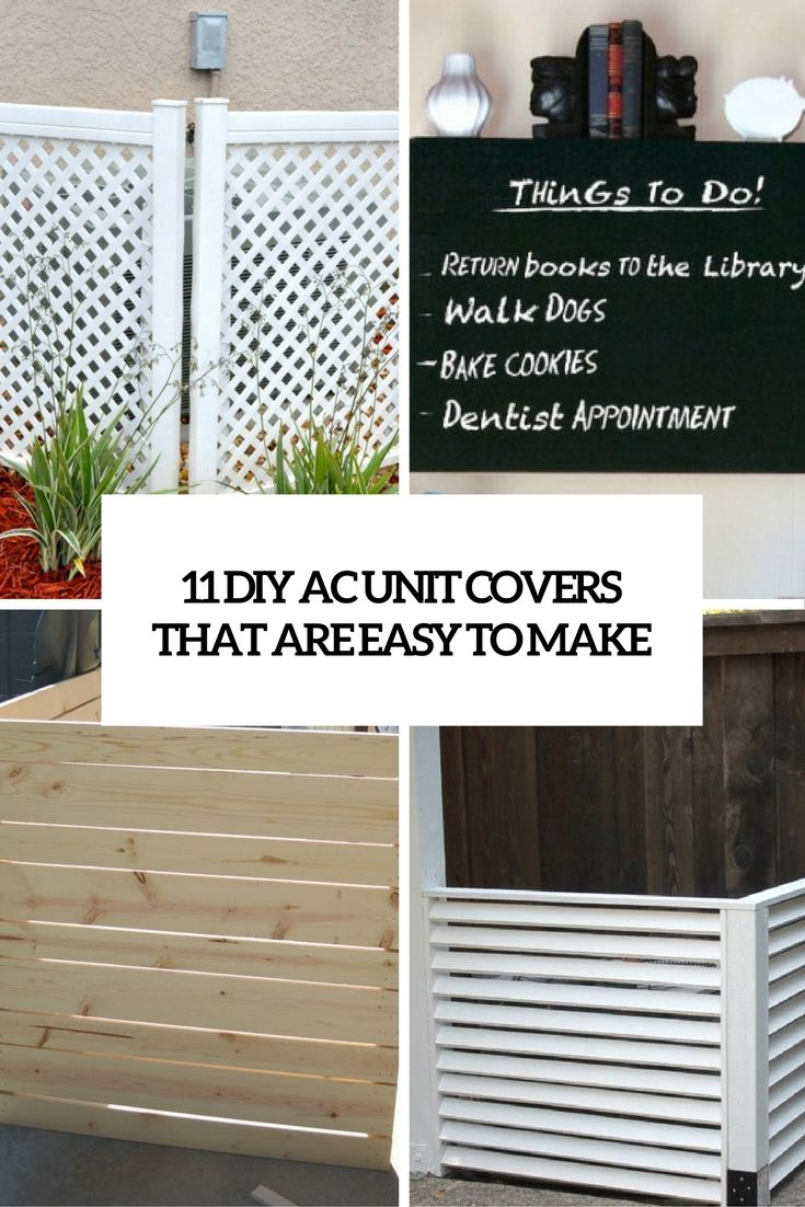 11 Diy Ac Unit Covers That Are Easy To Make Home Improvement