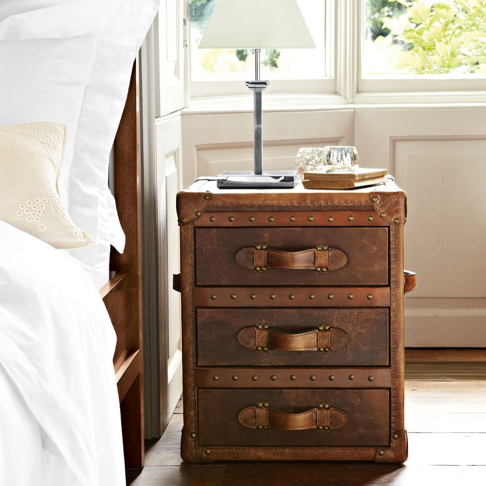 Leather Trunk Bedside Table Google Search