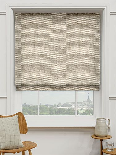 Gray Roman Shades Bedroom