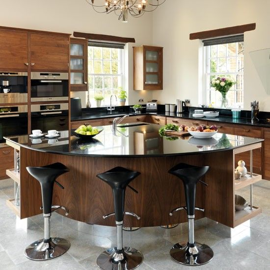 darby butchers block, marble top | granite, walnut kitchen and