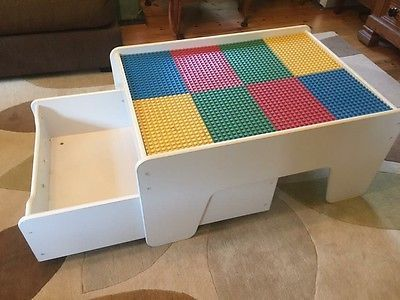 Lego #duplo kids play #table with storage drawer made by #kidkraft ...