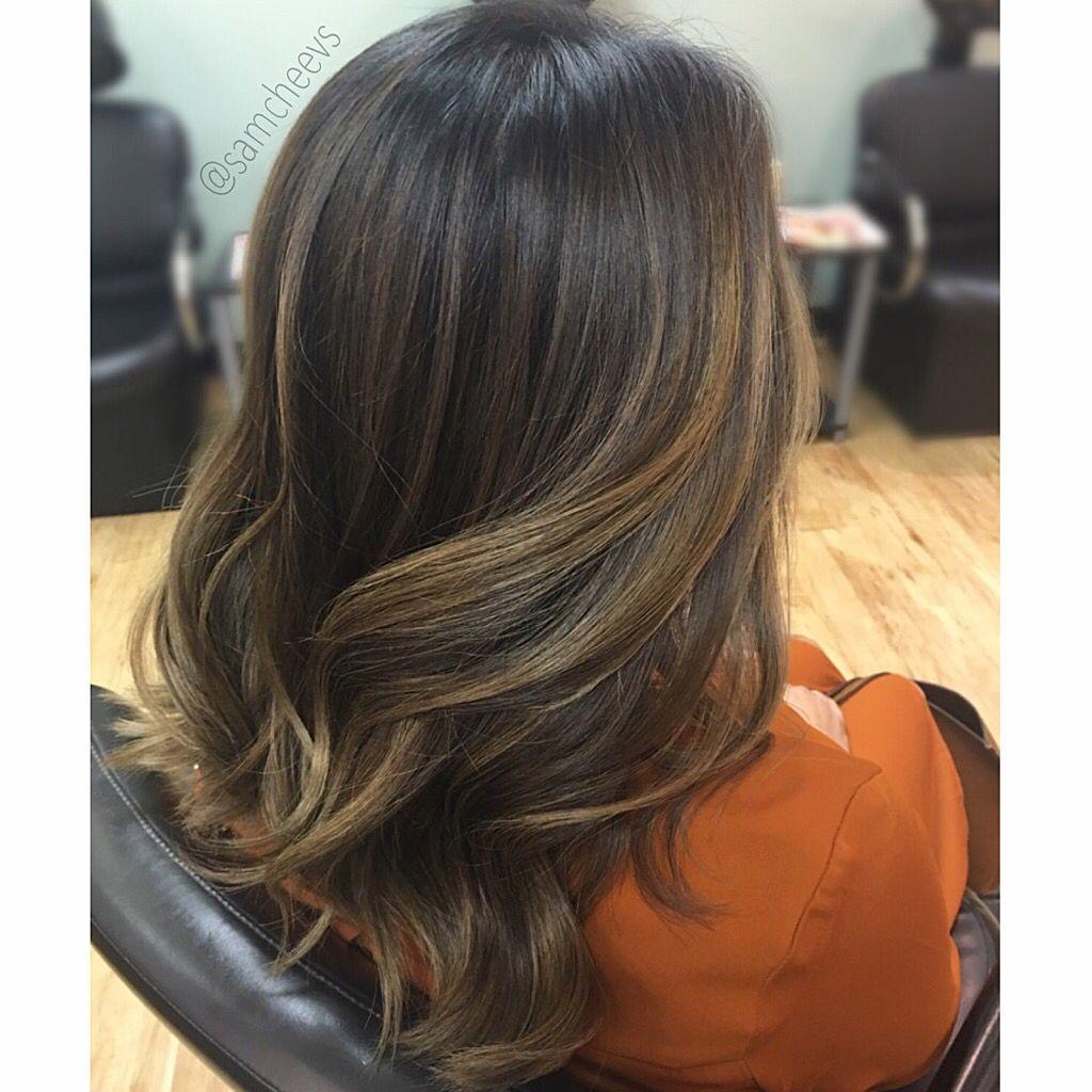 Dark Hair Balayage Hand Painted Highlights Balayage Hair Hair Styles Hairstyle