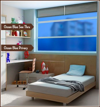 Ocean Blue Decorator Window Tint In See Through And Privacy Versions. This  Is What