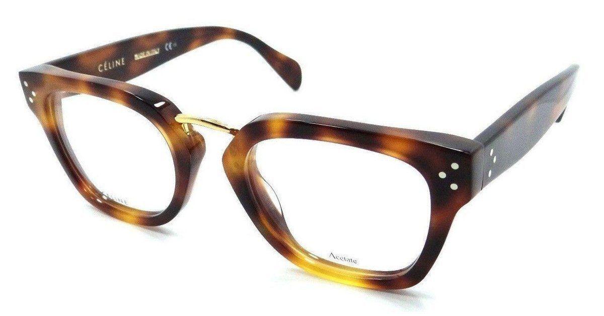 2ef2db7864d6 Celine Rx Eyeglasses Frames CL 41351 05L 48-21-145 Havana Made in Italy