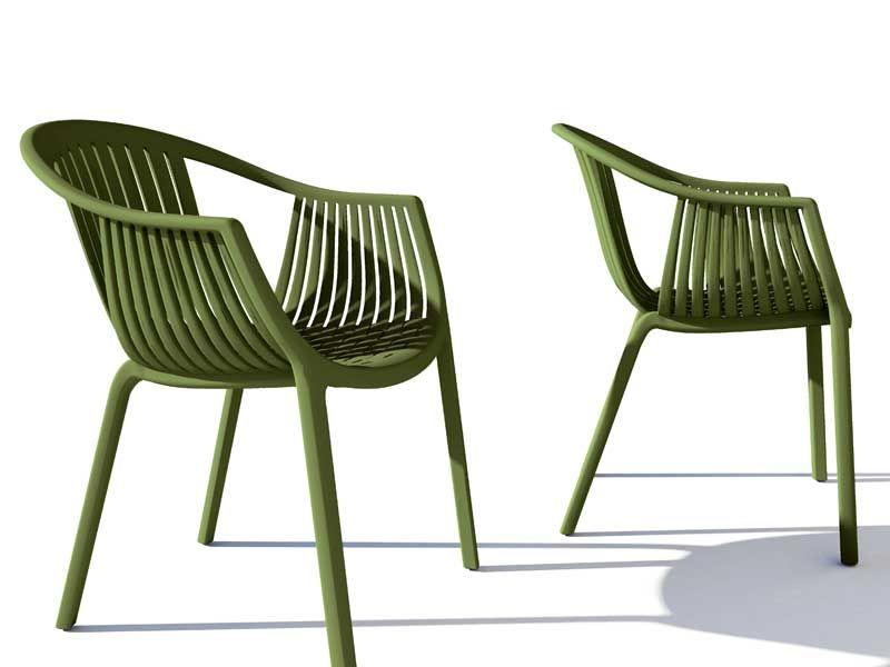 Stackable Polypropylene Garden Chair Tatami 306 Pedrali Chair
