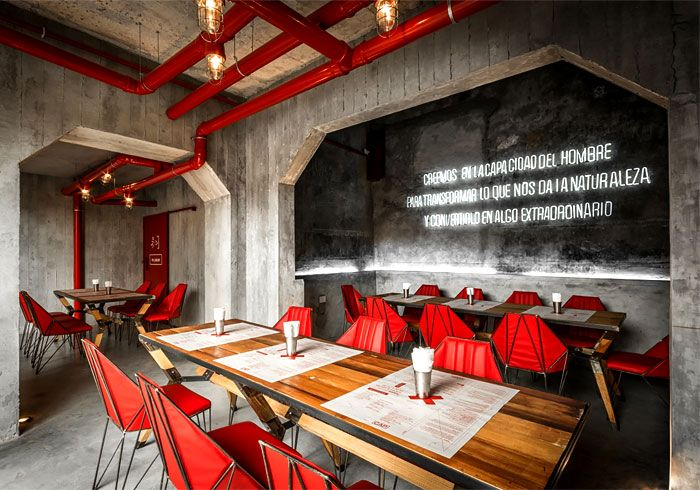 capitan central brewery vital and memorable dining space exposed piping bohemian bar restaurant decor 1