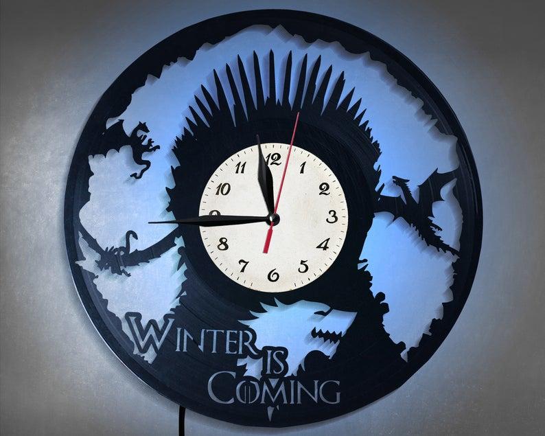 Game of Thrones Vinyl Wall Clock GOT Vinyl Record Clock