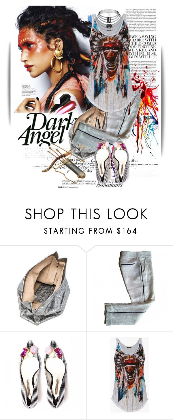 """""""Untitled #1159"""" by maja-k ❤ liked on Polyvore featuring Anja, Marie Turnor, Dolce&Gabbana, Louis Vuitton, Balmain and Baccarat"""