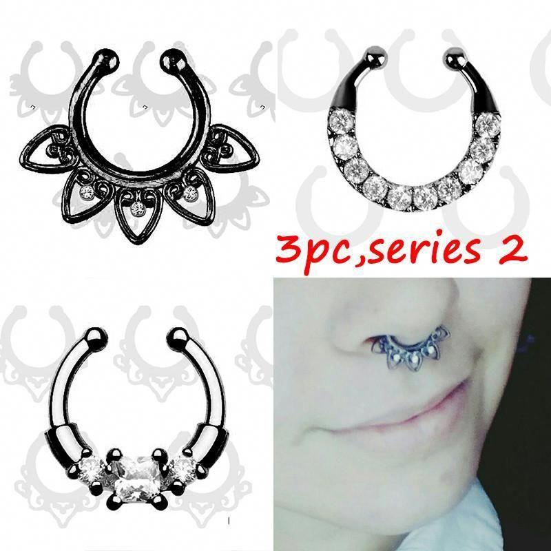 Septum Piercing Nose Ring Hoop Con Imagenes Aspectos Problemas