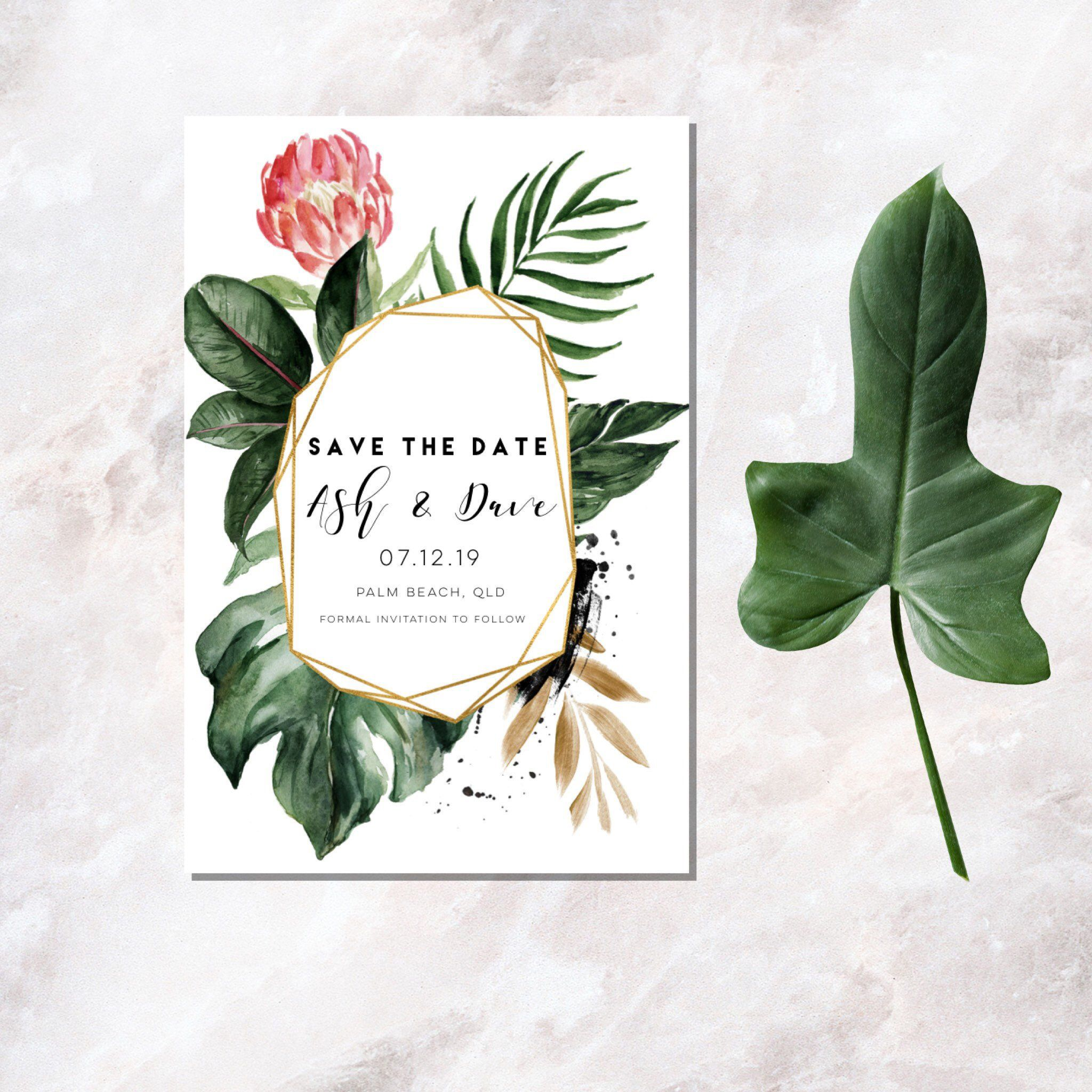 Tropical Save the Date Save the DateCustom