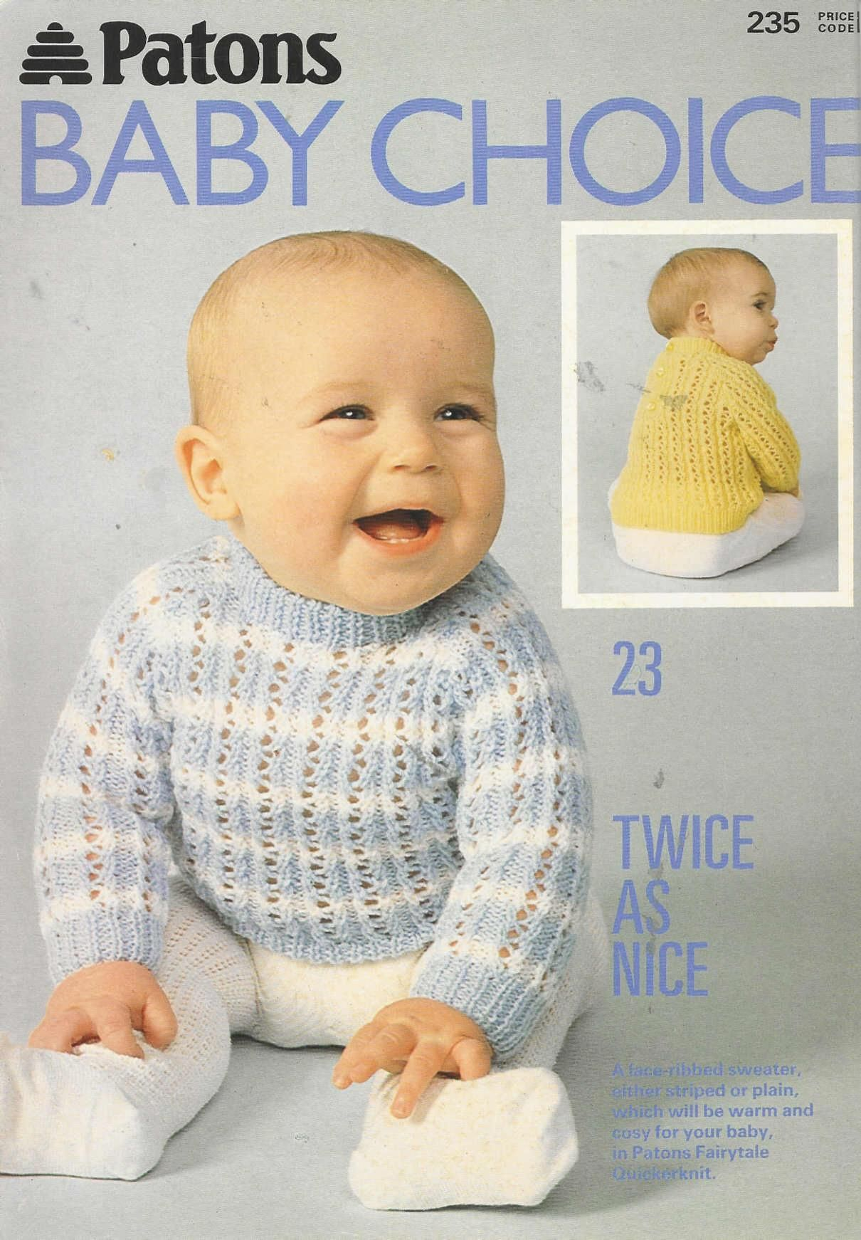 Patons 235 Baby s Choice | Baby knitting magazines | Pinterest ...