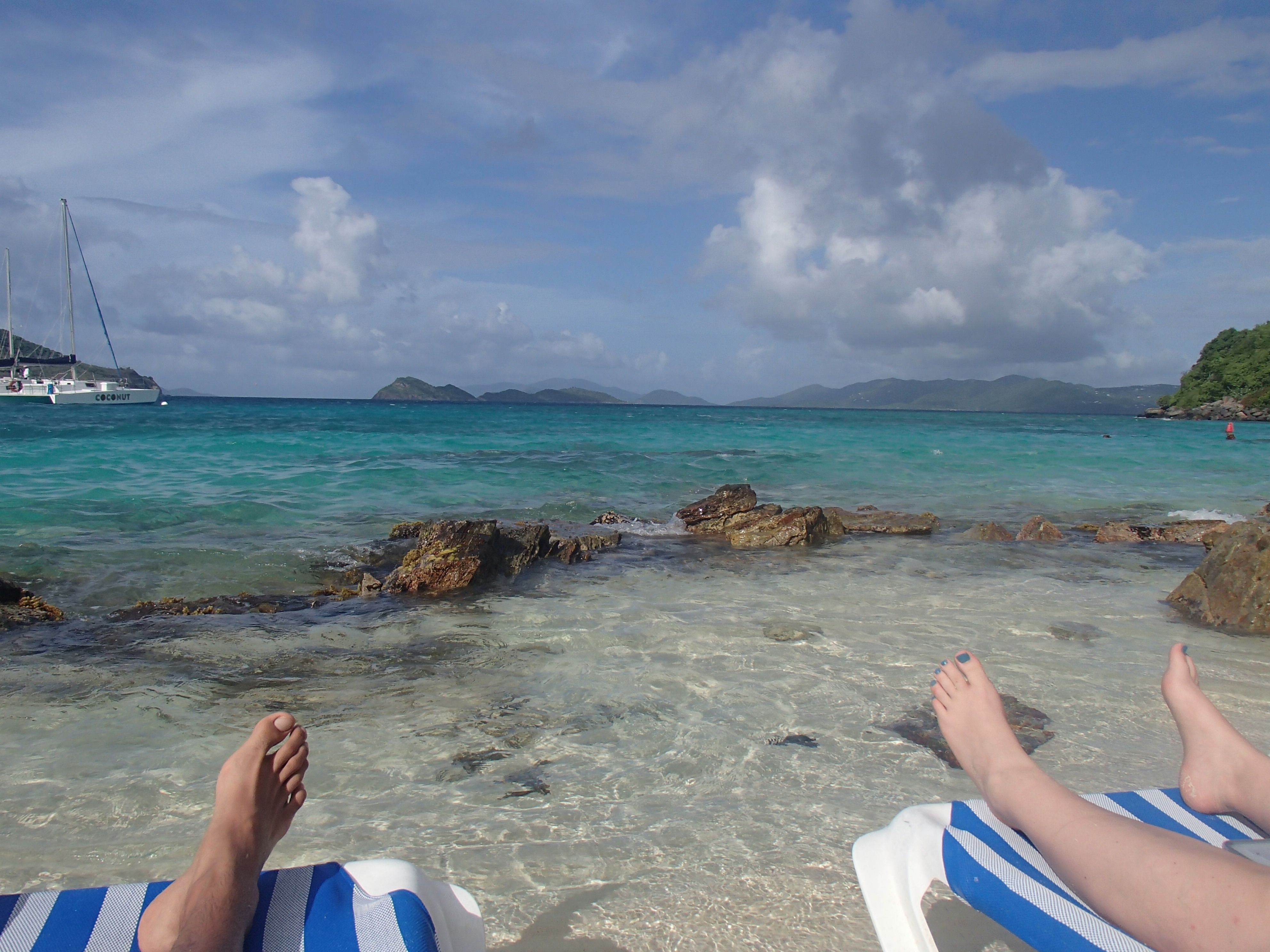 Sugar Beach St Thomas Usvi Private At The Bottom Of Point Pleasant Resort So Intimate And Peaceful