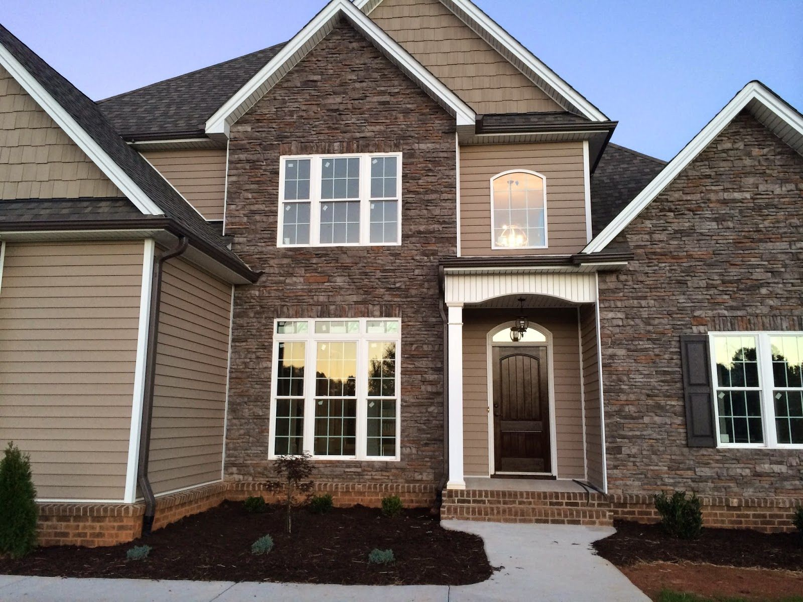 Almond Joy It S Move In Week Brick House Siding Mountain Home Exterior Craftsman House