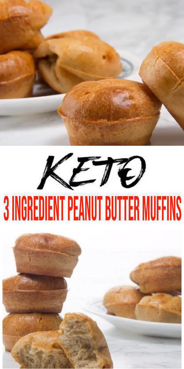 Photo of BEST Keto Muffins! Low Carb 3 Ingredient Peanut Butter Muffin Idea – Quick & Easy Flourless Ketogenic Diet Recipe – Completely Keto Friendly